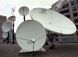 Satellite dish farm